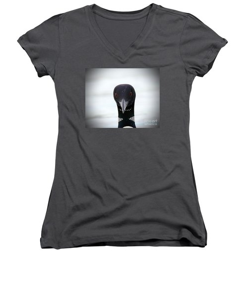 Loon Stare Women's V-Neck T-Shirt