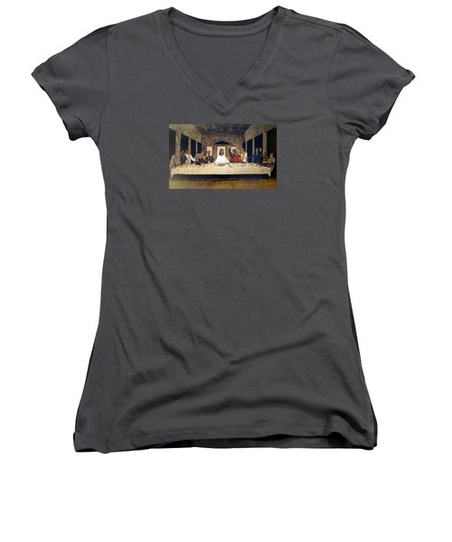Lord Supper Women's V-Neck (Athletic Fit)