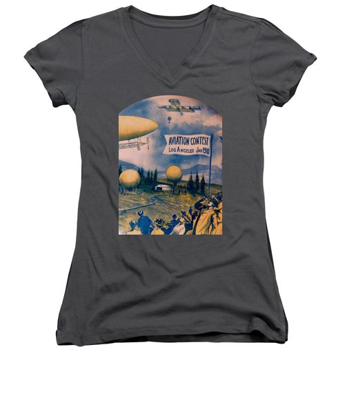 Los Angeles Aviation Contest 1910 Women's V-Neck (Athletic Fit)