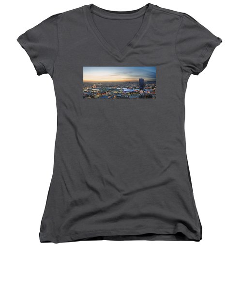 Los Angeles West View Women's V-Neck T-Shirt (Junior Cut) by Kelley King