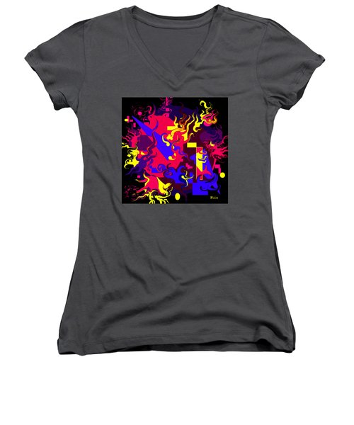 Loss Of Equilibrium Women's V-Neck T-Shirt