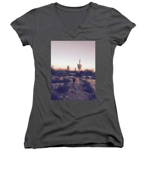 Lost In The Desert Women's V-Neck (Athletic Fit)