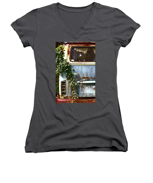 Lost In Time Women's V-Neck (Athletic Fit)