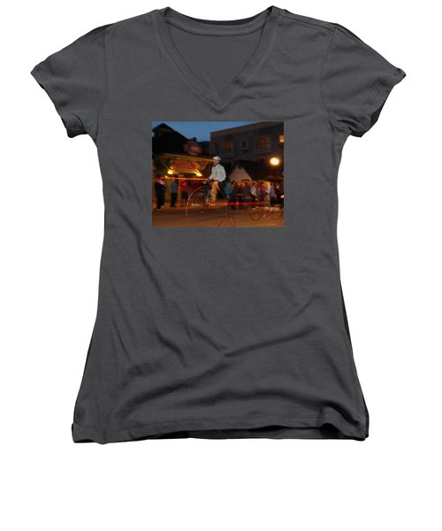 Lost In Time On Mackinaw Women's V-Neck T-Shirt