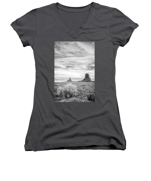 Lost Souls In The Desert Women's V-Neck T-Shirt (Junior Cut) by Jon Glaser