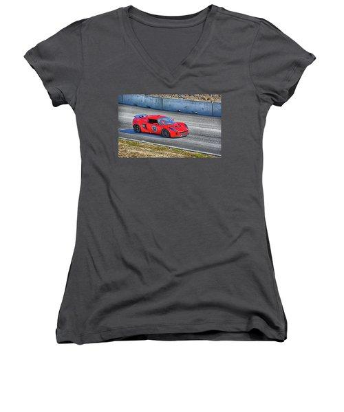 Lotus 87 Northeast Track Days Women's V-Neck T-Shirt (Junior Cut)