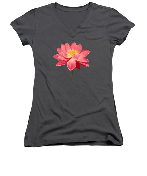 Lotus Flower Women's V-Neck T-Shirt (Junior Cut) by Anastasiya Malakhova