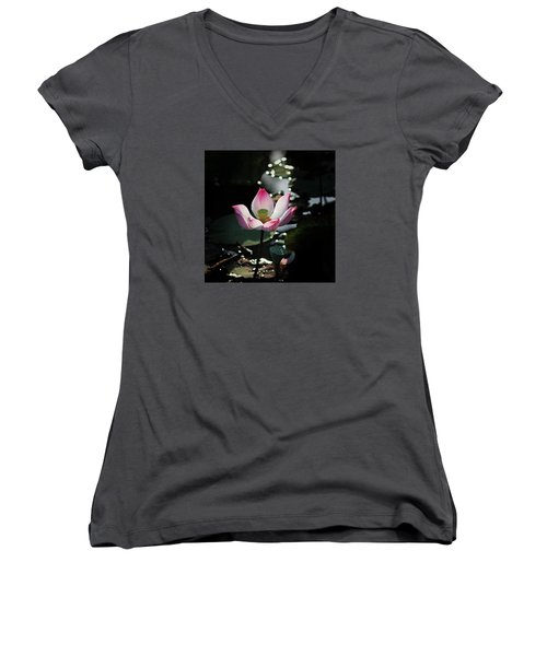 Lotus Flower Women's V-Neck (Athletic Fit)