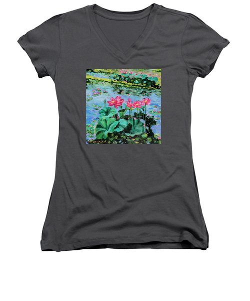 Lotus Women's V-Neck