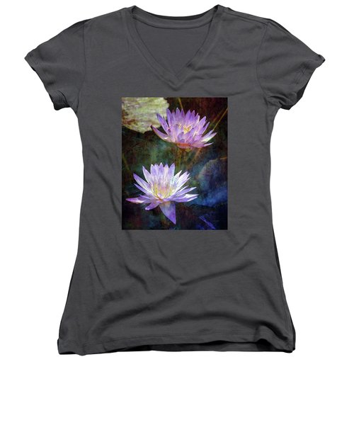 Lotus Reflections 2980 Idp_2 Women's V-Neck (Athletic Fit)