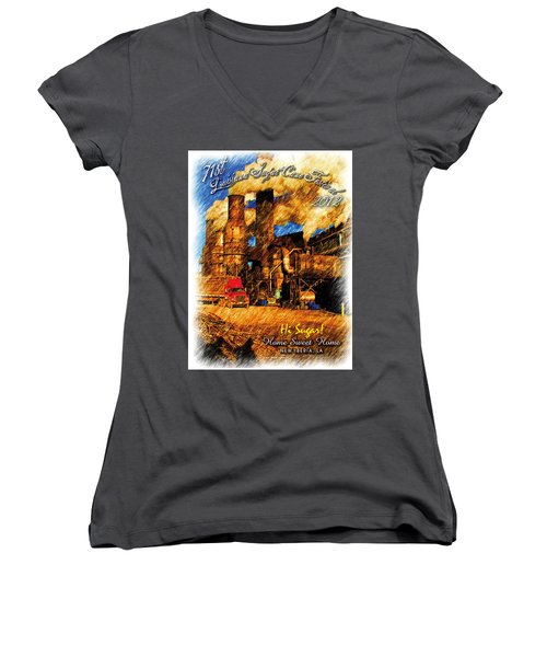 Louisiana Sugar Cane Poster 2012 Women's V-Neck (Athletic Fit)