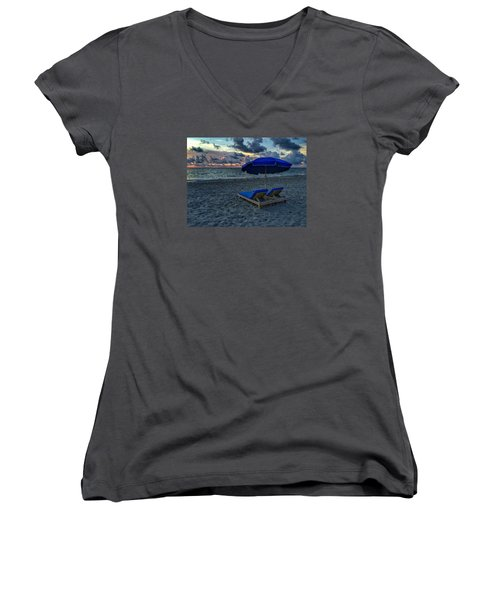 Lounging By The Sea Women's V-Neck T-Shirt