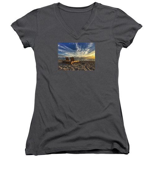 Lounging For 2 Women's V-Neck T-Shirt