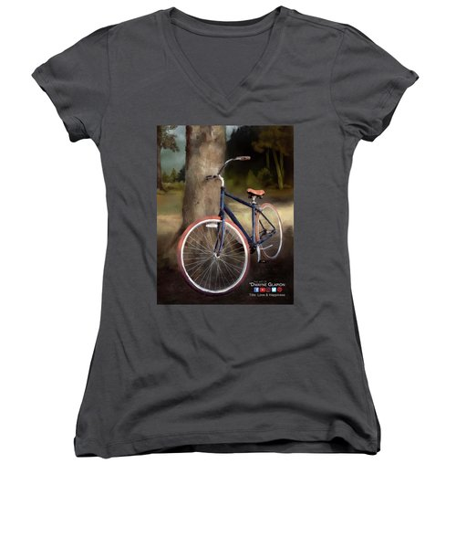 Love And Happiness Poster Women's V-Neck