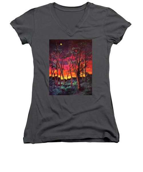 Love And The Evening Star Women's V-Neck
