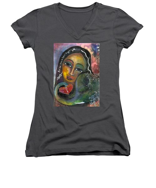 Love Can Draw An Elephant Through A Key Hole Women's V-Neck (Athletic Fit)