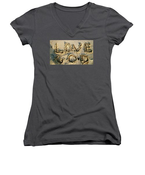 Love God Women's V-Neck (Athletic Fit)
