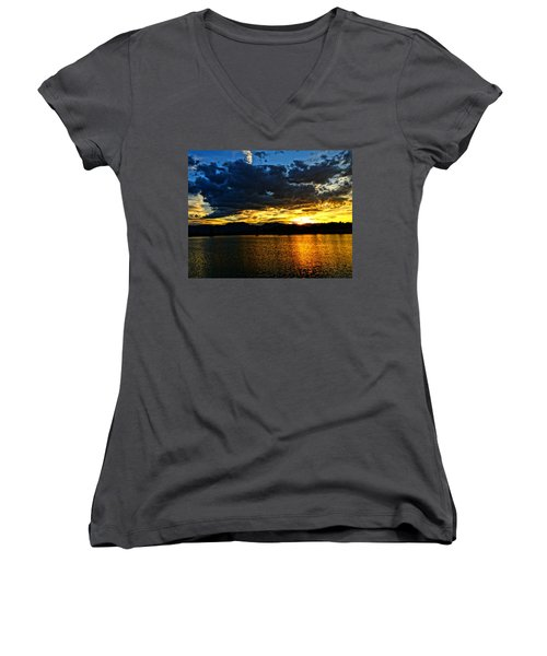 Love Lake Women's V-Neck T-Shirt (Junior Cut) by Eric Dee