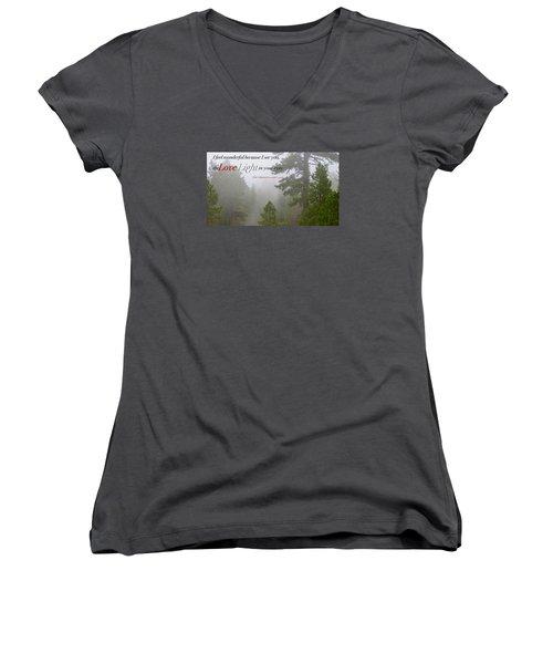 Love Light Women's V-Neck T-Shirt