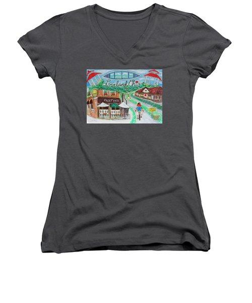 Loveland Ohio Women's V-Neck T-Shirt (Junior Cut)