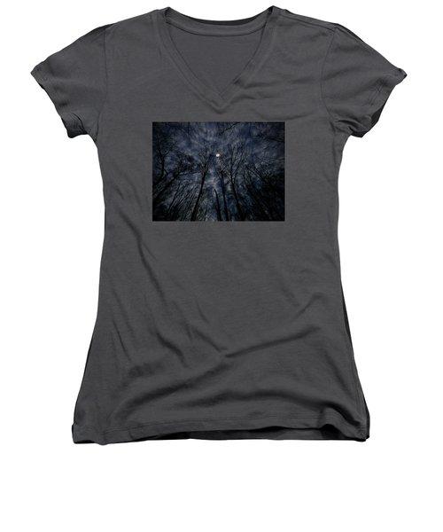 Women's V-Neck T-Shirt (Junior Cut) featuring the photograph Lovely Dark And Deep by Robert Geary