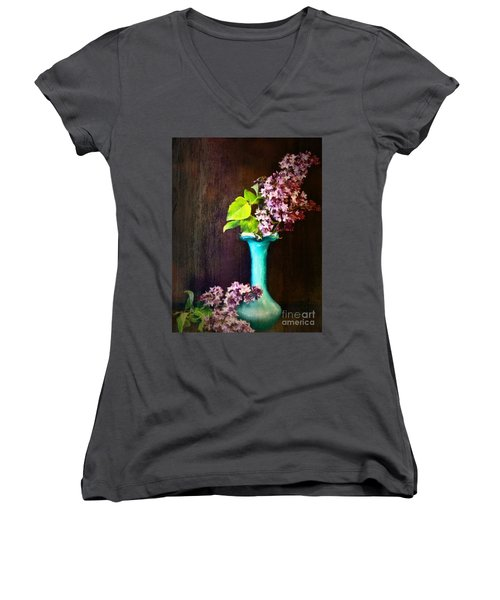 Lovely Lilacs Women's V-Neck (Athletic Fit)