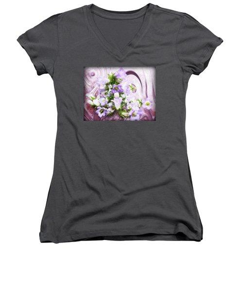 Lovely Spring Flowers Women's V-Neck T-Shirt