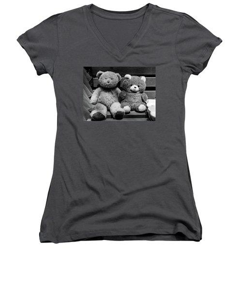 Lovers II Women's V-Neck T-Shirt (Junior Cut) by Yoel Koskas