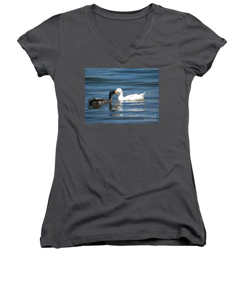 Loves Simple Way Women's V-Neck (Athletic Fit)