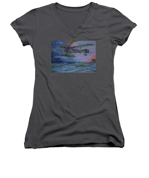 Low And Slow Women's V-Neck T-Shirt (Junior Cut) by Ray Agius