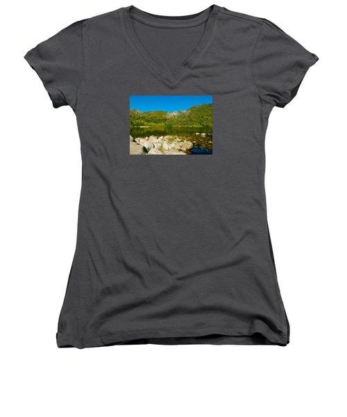 Lower Bells Canyon Reservoir Women's V-Neck T-Shirt