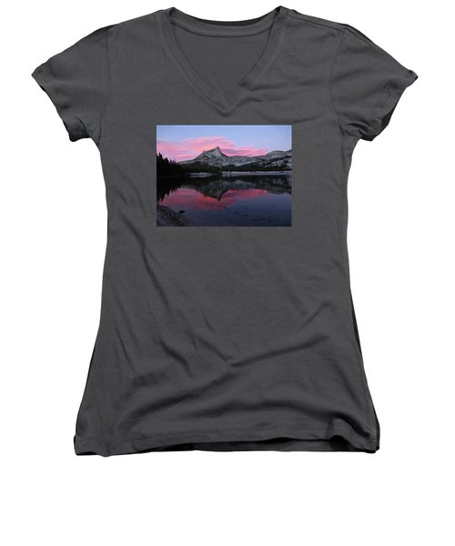 Lower Cathedral Lake Sunset Women's V-Neck (Athletic Fit)
