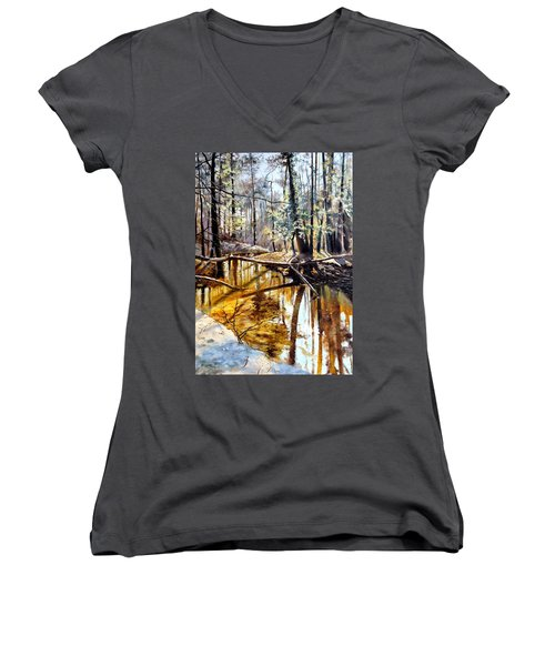 Lubianka-2-river Women's V-Neck T-Shirt