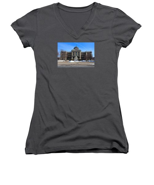 Lucas County Courthouse I Women's V-Neck T-Shirt (Junior Cut) by Michiale Schneider