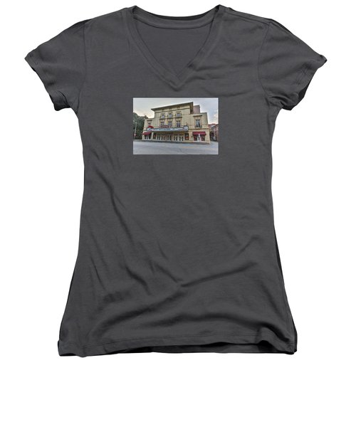 Lucas Theatre Savannah Ga Women's V-Neck (Athletic Fit)