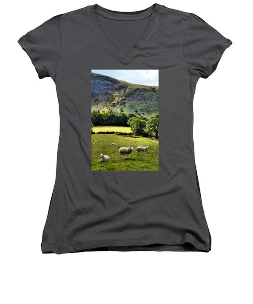 Lucky Sheep Women's V-Neck (Athletic Fit)