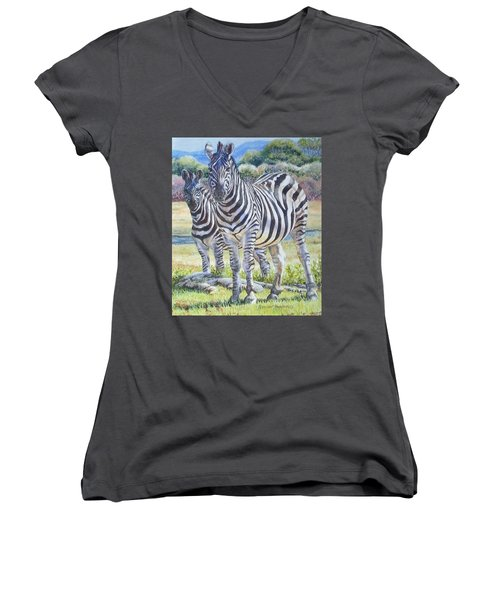 Lucky Stripes Women's V-Neck