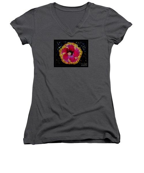 Luminous Bloom Women's V-Neck T-Shirt