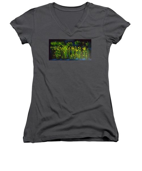 Lumonious Buds     17 Women's V-Neck (Athletic Fit)