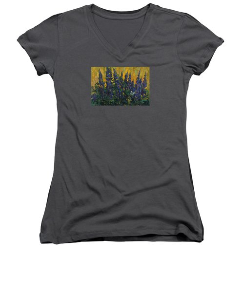 Lupins Women's V-Neck T-Shirt