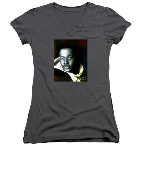 Luther Vandross - Singer  Women's V-Neck