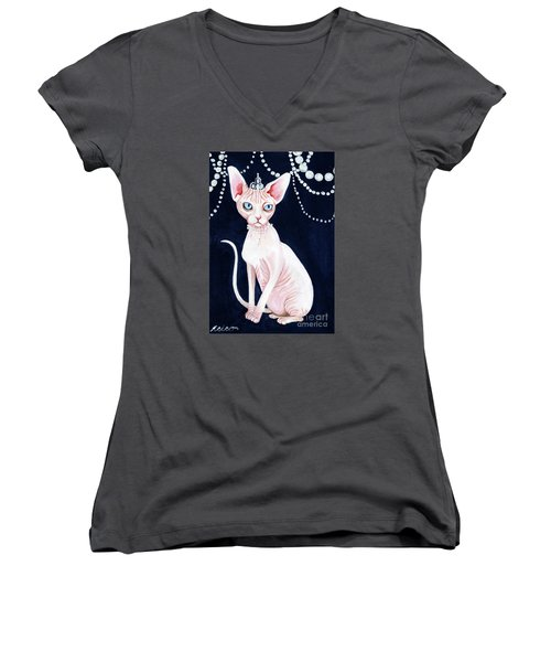 Luxurious Sphynx Women's V-Neck (Athletic Fit)