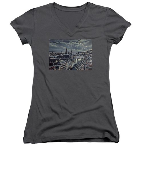 Maastricht By Moon Light Women's V-Neck (Athletic Fit)