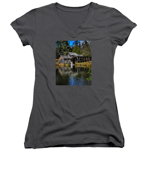 Mabry Mill  Women's V-Neck T-Shirt