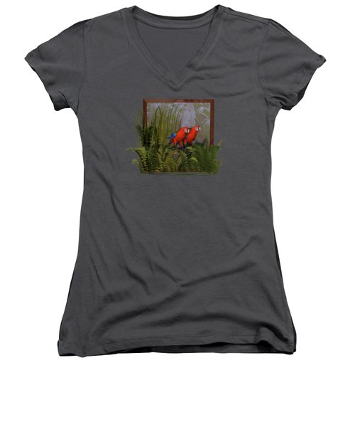 Macaws Women's V-Neck T-Shirt