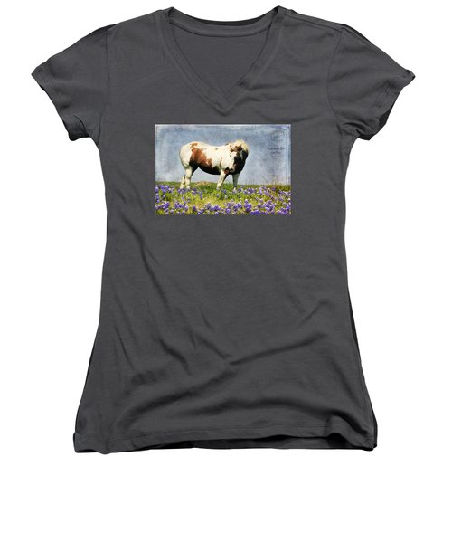 Made With Love From Texas Women's V-Neck T-Shirt (Junior Cut) by Joan Bertucci