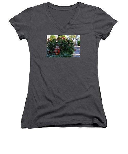 Madison Fire Hydrant Women's V-Neck T-Shirt