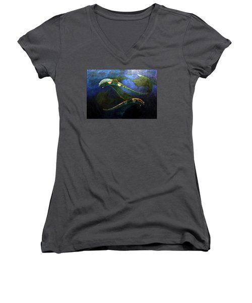 Magic Fish Women's V-Neck (Athletic Fit)