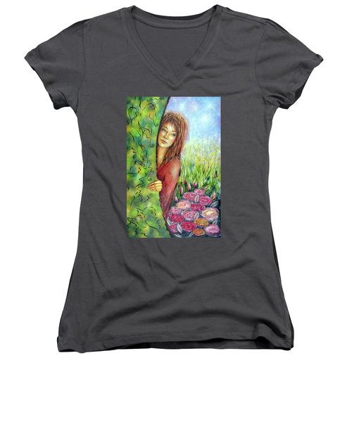 Magic Garden 021108 Women's V-Neck