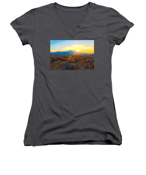 Magic Over Taos Women's V-Neck